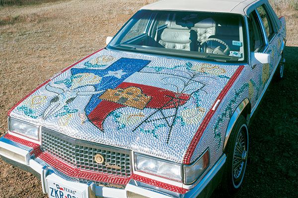 Art cars like this Cadillac are just one thing worth bragging about in this month's Twitter contest.