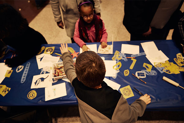 Families can make their own pieces of history at weekly Create Your Own workshops.