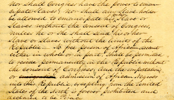 Republic Of Texas Draft Constitution Bullock Texas State History