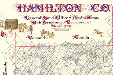 Hamilton County map by Eltea Armstrong