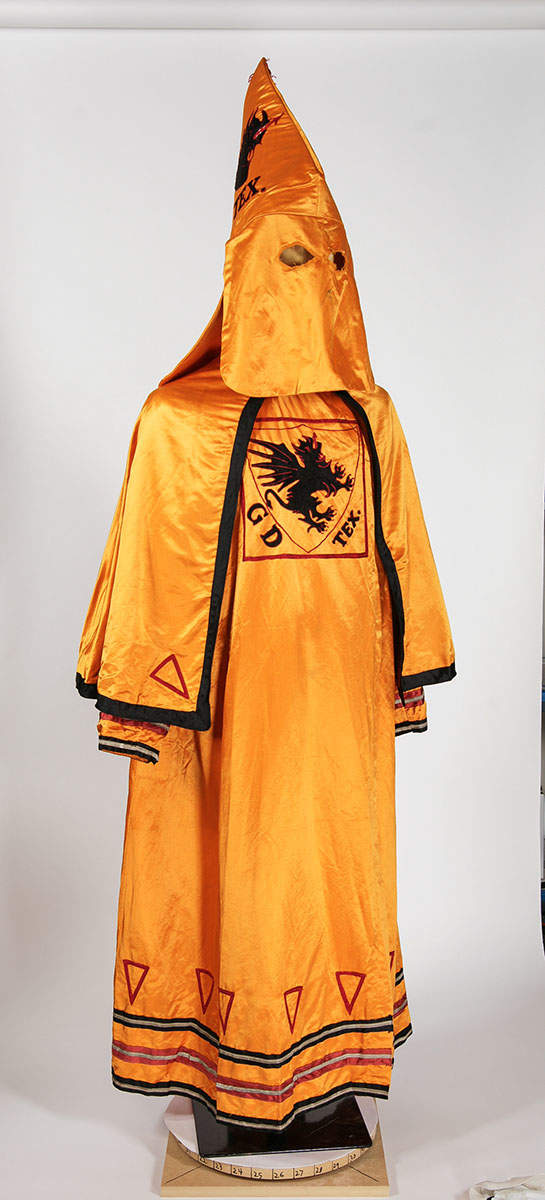grand dragon kkk robe texas state history museum