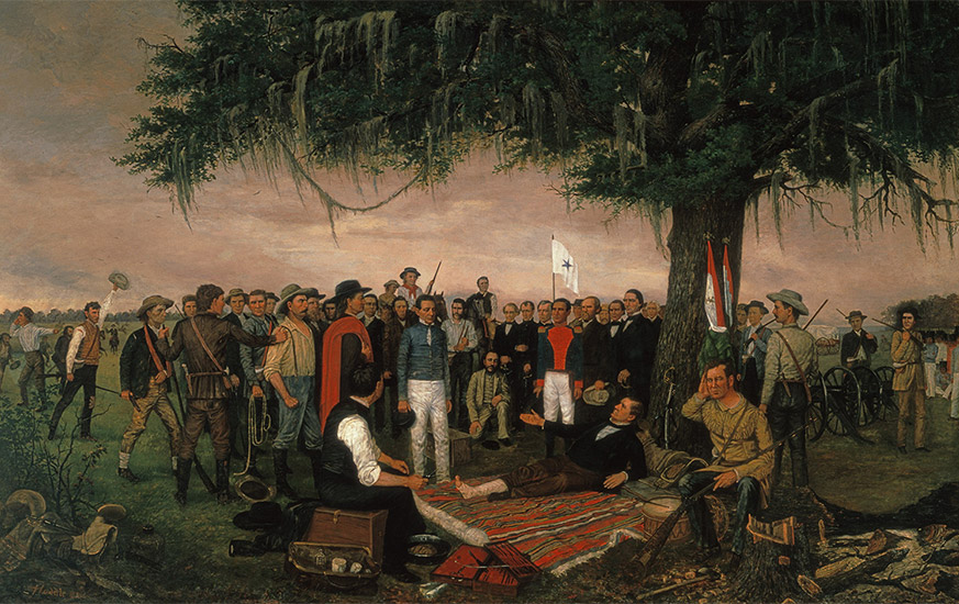 the surrender of santa anna