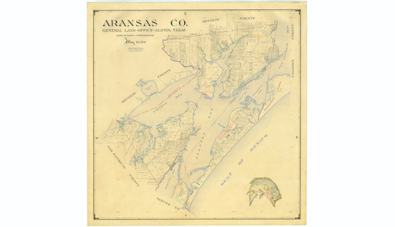 Aransas County Map by Eltea Armstrong | Bullock Texas State History on map of galveston texas, map of austin texas, map of fulton texas, map of laredo texas, map of united states texas, map of port aransas texas, map of mustang island texas, map of port arthur texas, map of nueces river texas, map of lamar texas, map of sinton texas, map of kingsville texas, map of corpus christi texas, map of copano bay texas, map of south texas, map of texas texas, map of se texas, map of laguna madre texas,