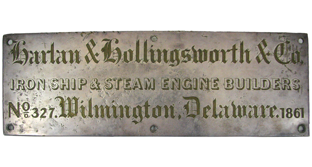 Photo of a Civil War Era Builder's Plate
