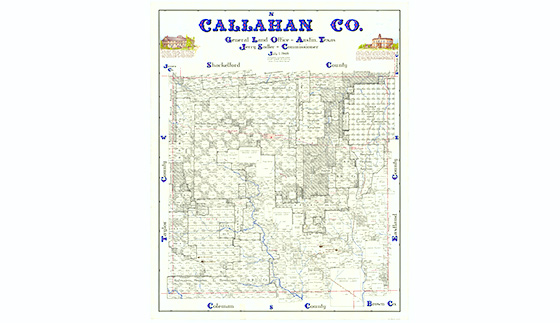 Callahan County Map By Eltea Armstrong Bullock Texas State - Interactive us map county influx