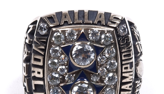 Ring from Dallas Cowboys Super Bowl XII 1978 championship win