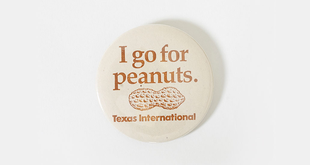 I Go for Peanuts button