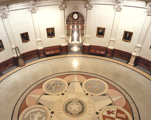 Rotunda in the Texas State Capitol.