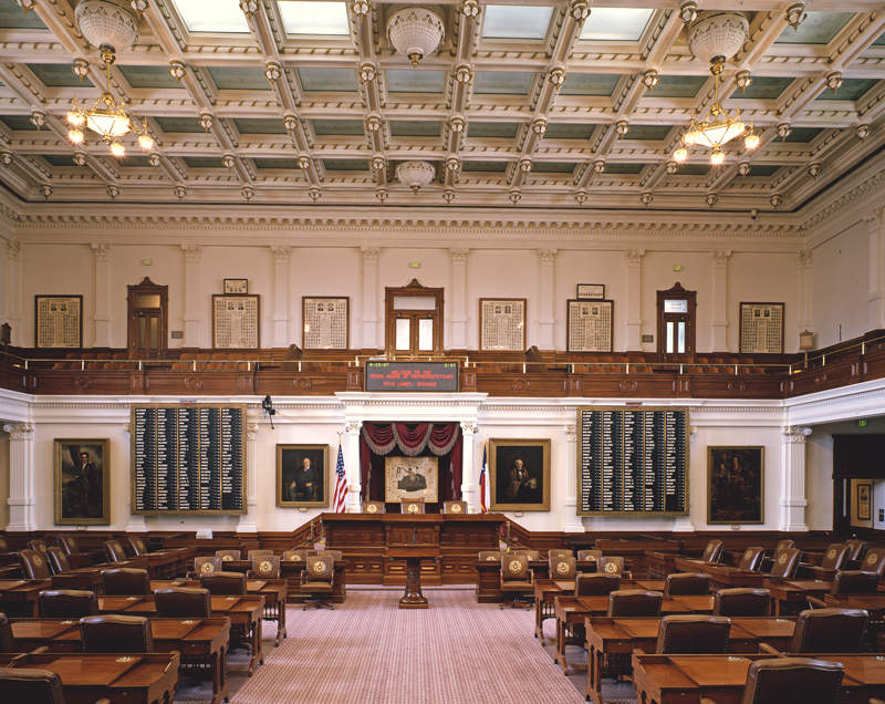 Texas House of Representatives chamber.