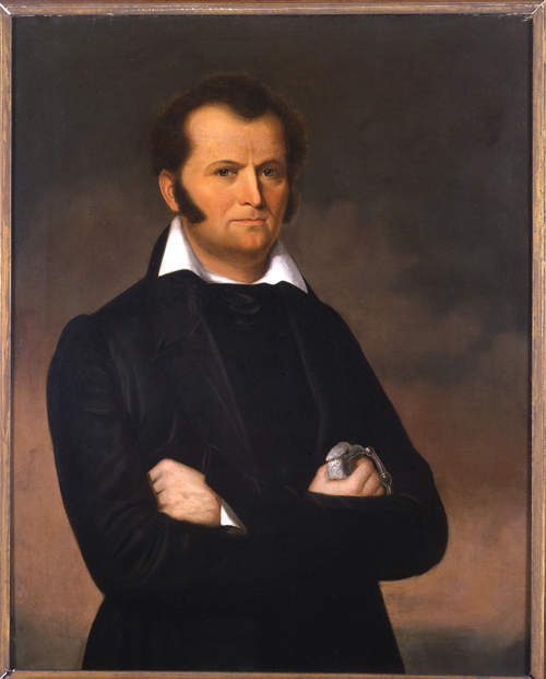 This portrait of legendary hero James Bowie hangs in the House Chamber at the Texas Capitol.