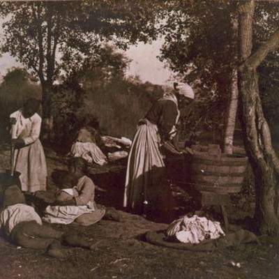 Washing day. Image courtesy of Library of Congress