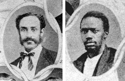 George T. Ruby (left) introduced resolutions to protect black voters, while Matthew Gaines (right) supported bills for public education and prison reform. Both men, along with other black members of the Texas Legislature, helped pass bills creating a State Police, of which black men were a large part, before the end of Texas Reconstruction in 1874. 1/151 Ruby and Gaines, Courtesy of Texas State Library and Archives Commission