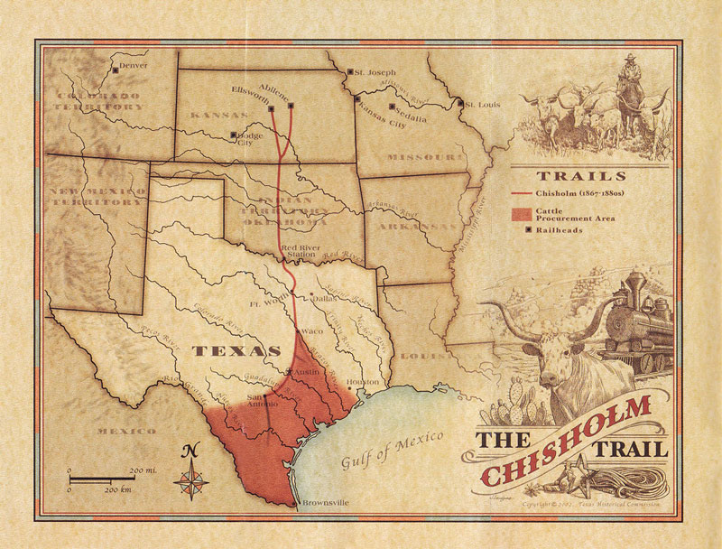 Map Of Texas 1880.The Cattle Folk Story Texas State History Museum