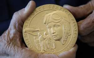 The Congressional Gold Medal awarded to the WASP in 2010.