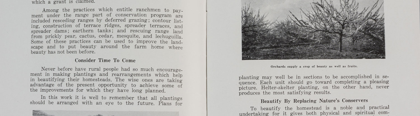 "Booklet, ""Conservation and Landscaping the Rural Home"""