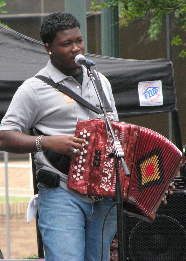 Contestant performing at the Big Squeeze