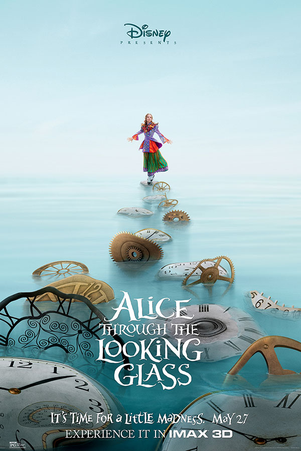 Alice Through the Looking Glass Bullock Imax Theatre Film Poster