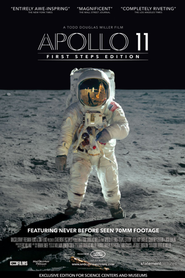 Apollo 11 poster, astronaut on the moon