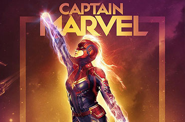 Captain Marvel in heroic pose