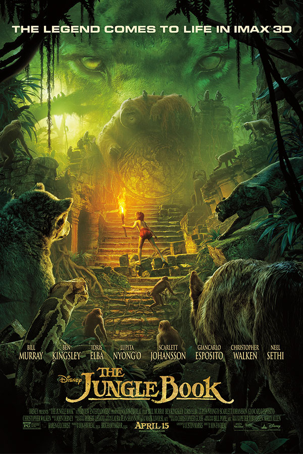 The jungle book bullock imax theatre film poster