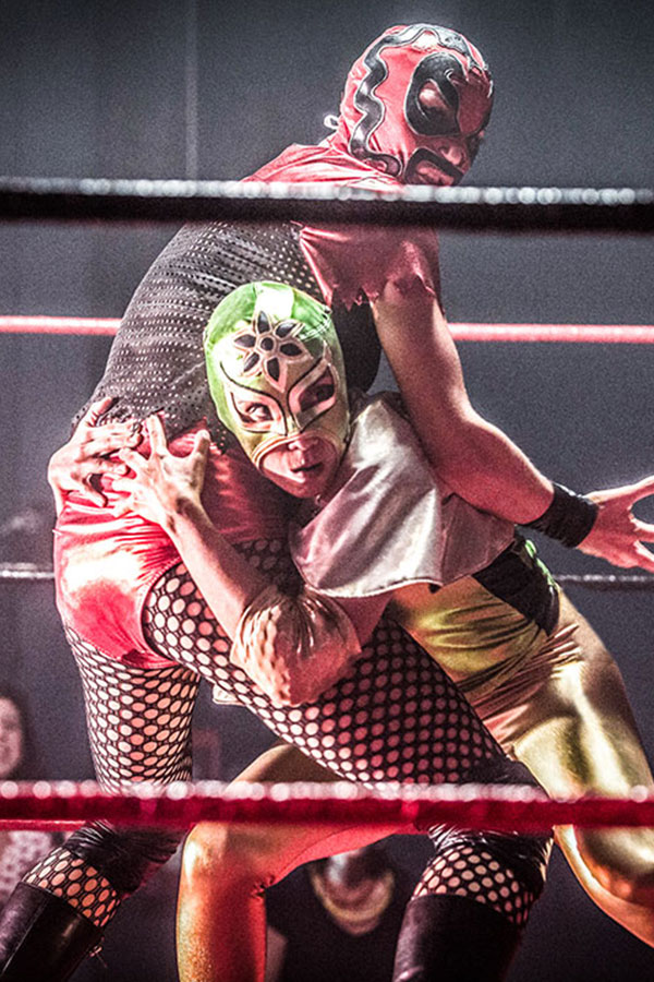 luchadore wrestling scene from Signature Move
