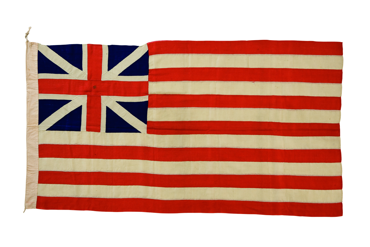 Also known as the Continental Colours or Great Union Flag, this flag was made in 1876 to commemorate the American Centennial. The Grand Union was used in the early stages of the American Revolution.