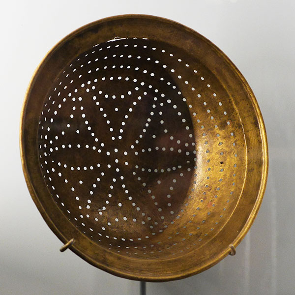 This collander was among other 17th century items intended for use in the new colony.