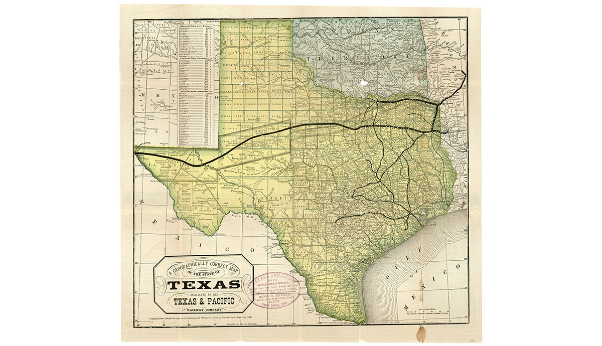 Worksheet. Mapping Texas Collections from the Texas General Land Office