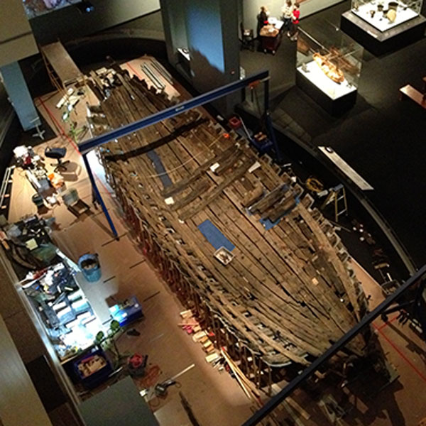 La Belle is now permanently anchored in the first floor Texas History Gallery.