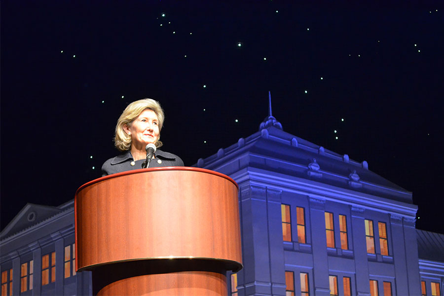 Many speakers, including former U.S. Sen. Kay Bailey Hutchison, have taken center stage in the Texas Spirit Theater at the Bullock Museum.