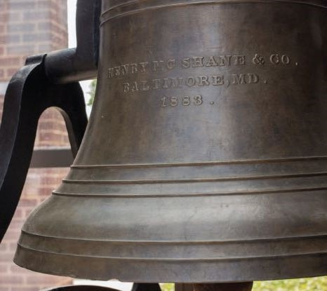 The bell that has called Abilene to church for over 130 years.