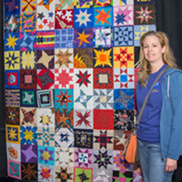 Maura White and the quilt that started in space.