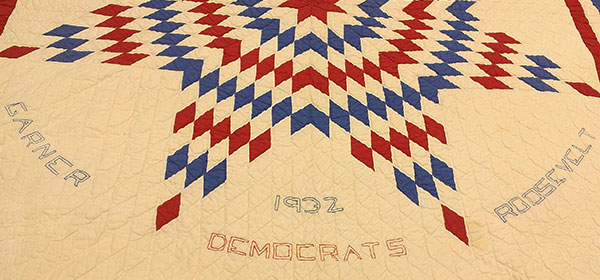 """Texas Star"" quilt given to Vice President John Nance Garner."