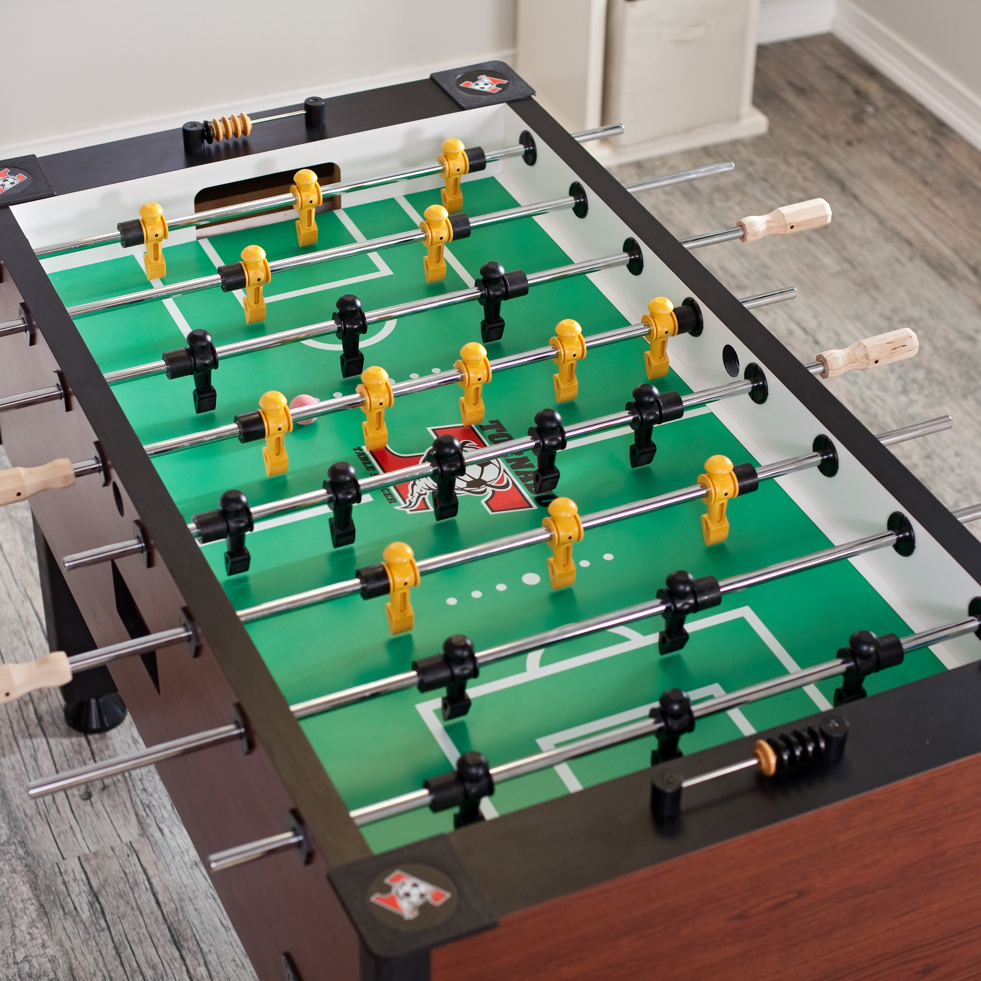 A foosball table game that reminds Rory of an early childhood experience with his dad.